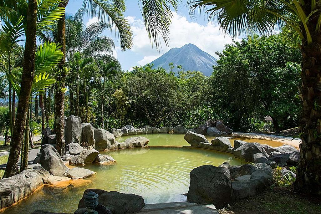 Arenal Paraiso Hot Springs Volcano View