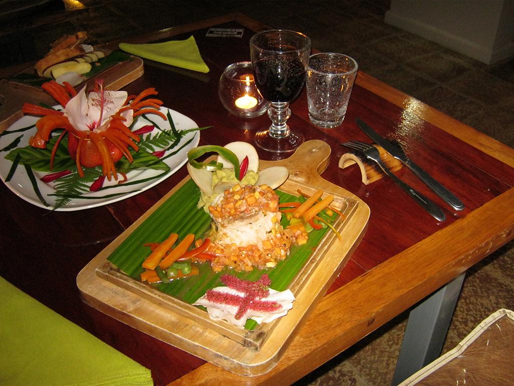 Celeste Mountain Lodge Dinner