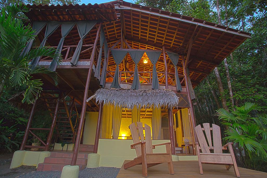 El Remando Vainilla Deluxe Cabin Terrasse